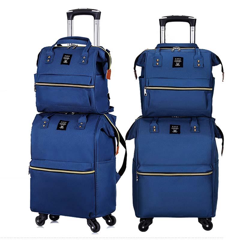 Bagaj ve Çantalar'ten Bagaj Setleri'de LeTrend Moda Büyük kapasiteli Dönücü Haddeleme Bagaj Seti Çok Fonksiyonlu Bavul Tekerlekleri 20 inç Kadın Kabin Arabası Seyahat Çantaları'da  Grup 1
