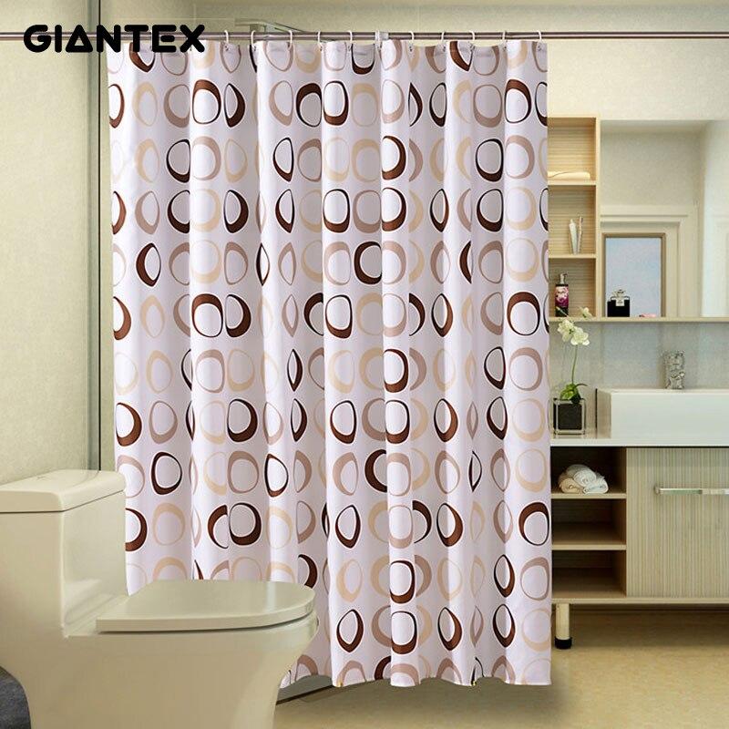 giantex kreis muster polyester bad wasserdicht dusche vorhnge mit kunststoff haken u1089 - Bad Muster