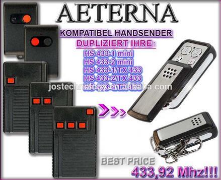 Hs433-4/tx433 Starker Widerstand Gegen Hitze Und Starkes Tragen Gutherzig Aeterna Ersatz Remote Hs433-1mini Hs433-2/tx433 Hs433-1/tx433 Hs433-2mini