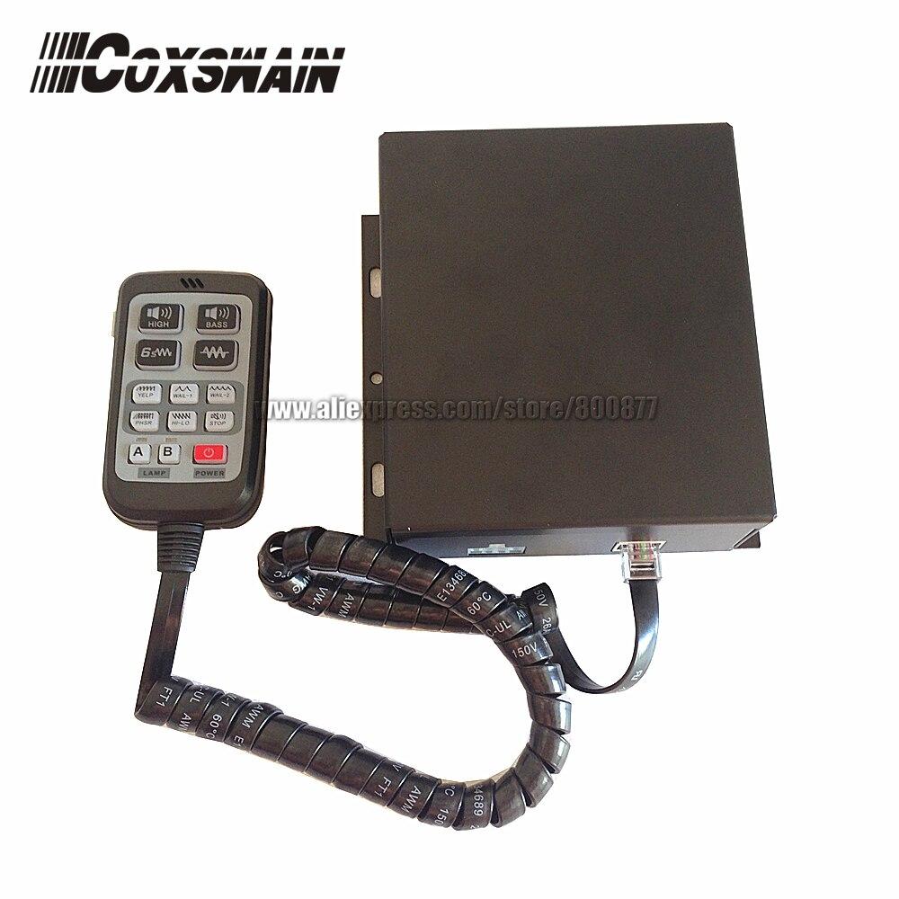 PA 615 200 W auto politie sirene alarm, 10 geluiden met Microfoon, 2 licht knop, PA systeem security versterker (zonder speaker)-in Verkeerssignaal van Veiligheid en bescherming op AliExpress - 11.11_Dubbel 11Vrijgezellendag 1