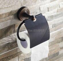 Черный Масло Втирают Бронзовый Ванная Комната Настенные Держатель Туалетной Бумаги Ткани Держатель Рулона Wba121