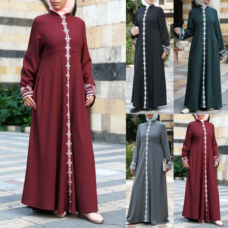 Bangladesh Abayas For Women Muslim Abaya Turkish Caftan Marocain Kaftan Pakistan Djelaba Femme Dubai Abaya Robe Islamic Clothing