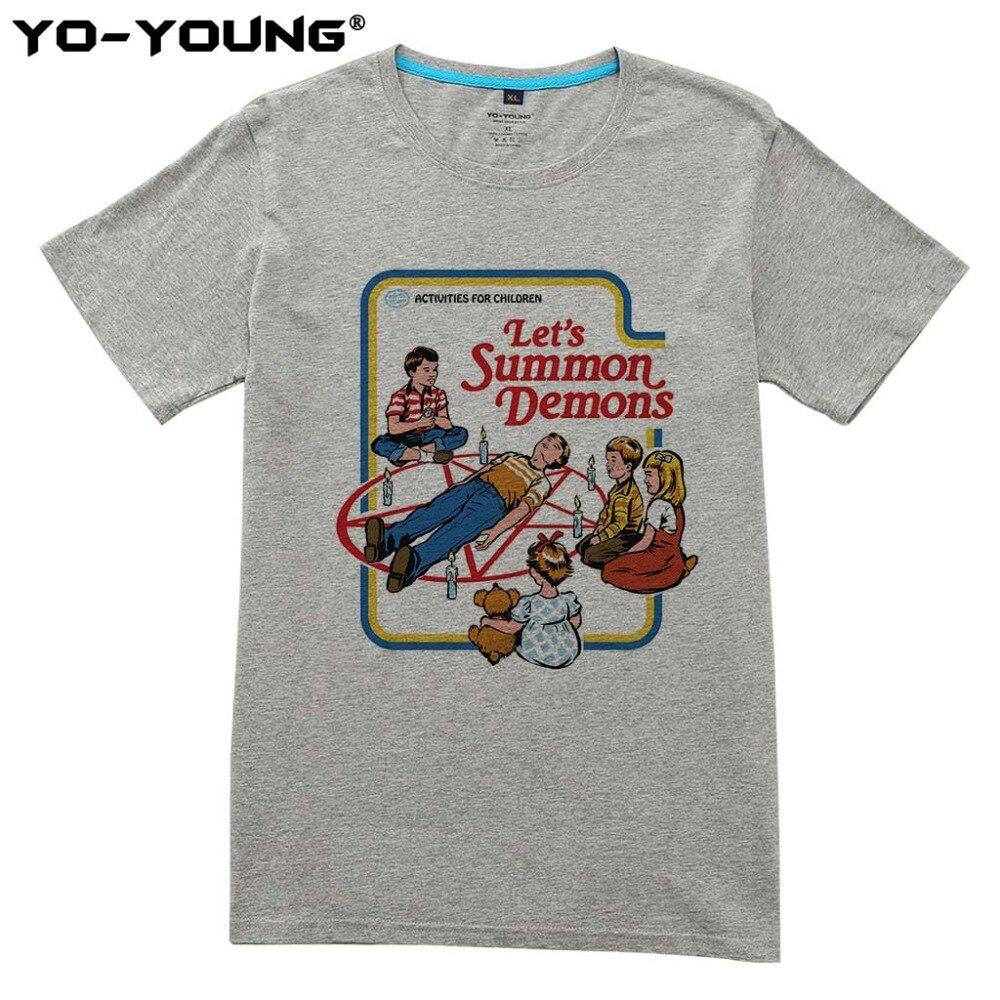 Summer Men T Shirts Let S Summon Demonds Activities For Children