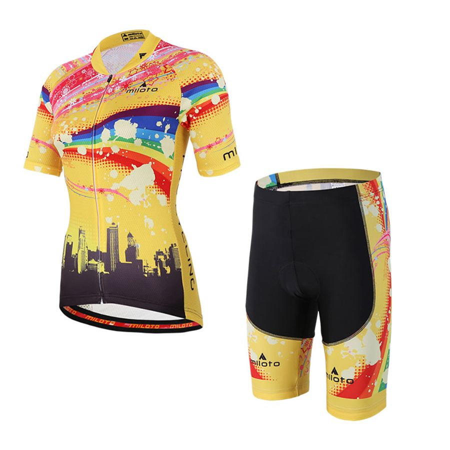 Women Cycling Wear Jersey Set Pro Team Bicycle Sport Wear Clothing Kits Mountain Road Bike Jersey Clothes Gel Pad Bib Shorts 4XL