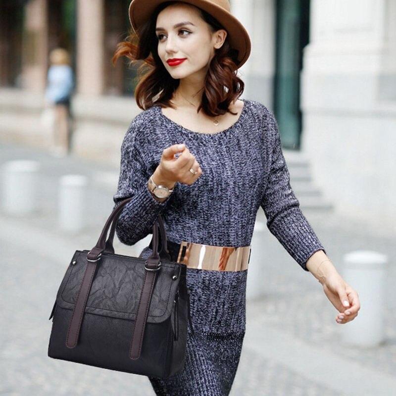 Beaumais 2017 Top-Handle Bags Women Casual Leather Shoulder Bags Women Crossbody Bags For Women Luxury Brand Bag Female DF0073
