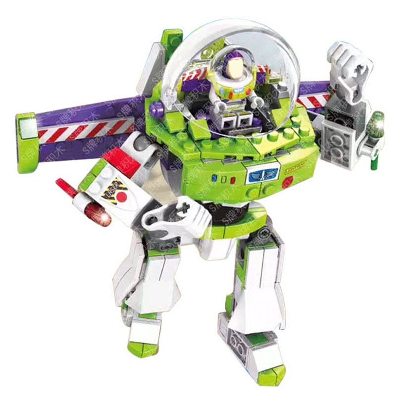 243Pcs Toy Story 4 Compatible Buzzed Blocks Set Lightyear Space Mech Building Bricks Movie 2 Toys For Children in Blocks from Toys Hobbies