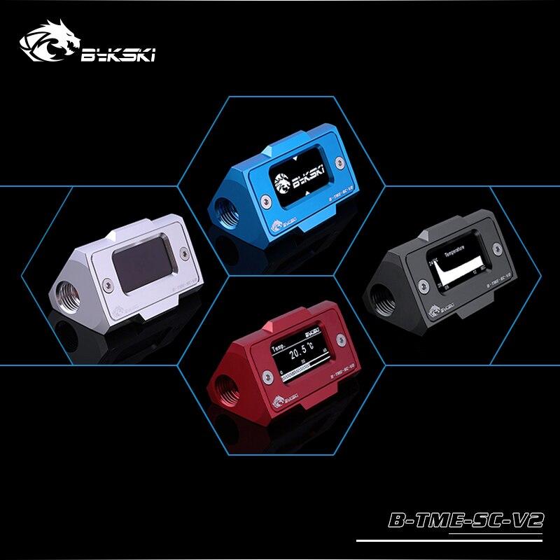 Bykski B-TME-SC-V2, compteur de température numérique de refroidissement par eau, écran LCD haute définition