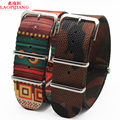 Laopijiang Quality nylon watch band with men and women watch national wind canvas 24mm