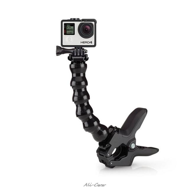 Jaws Flex Clamp Mount สำหรับ GoPro อุปกรณ์เสริม GoPro HERO 7/6 3 + 4 เซสชัน SJCAM SJ4000 SJ5000 M20 XIAOMI YI 2 4 K Eken h9r/H9