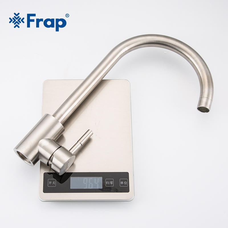 Frap Kitchen Faucets Stainless Steel Kitchen Mixer Single Handle Single Hole Kitchen Faucet Mixer Sink Tap Kitchen Faucet Y40107 5