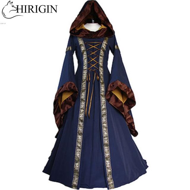 57123a2da8a6c Renaissance Women Costume Medieval Maiden Fancy Cosplay Over Dress  halloween costumes for women Victorian Dress Costume