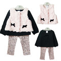 Winter Baby Girls Clothes Set: Waistcoat + T-shirt + Pants 3-Piece Suit PrincessToddler Girl Clothing Outfits