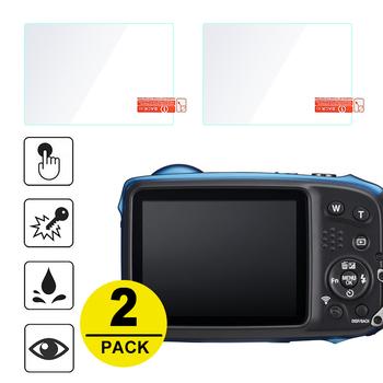 2x ochraniacz ekranu ze szkła hartowanego dla Fujifilm FinePix XP140 XP130 XP120 XP90 instax SQUARE SQ20 mini LiPlay aparat cyfrowy tanie i dobre opinie NoEnName_Null To Fit XP130 Kamera DEJ-2GSP-XP130