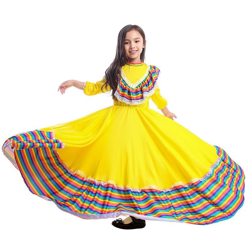 Ladies Latin Mexican Salsa Costume Fancy Dress Flamenco Dancer Senorita Rumba