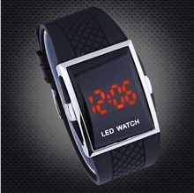 Free shipping 1pcs 4 Colors stock Intercrew LED watch ,Digital Electronic LED Watch Red Light for Man
