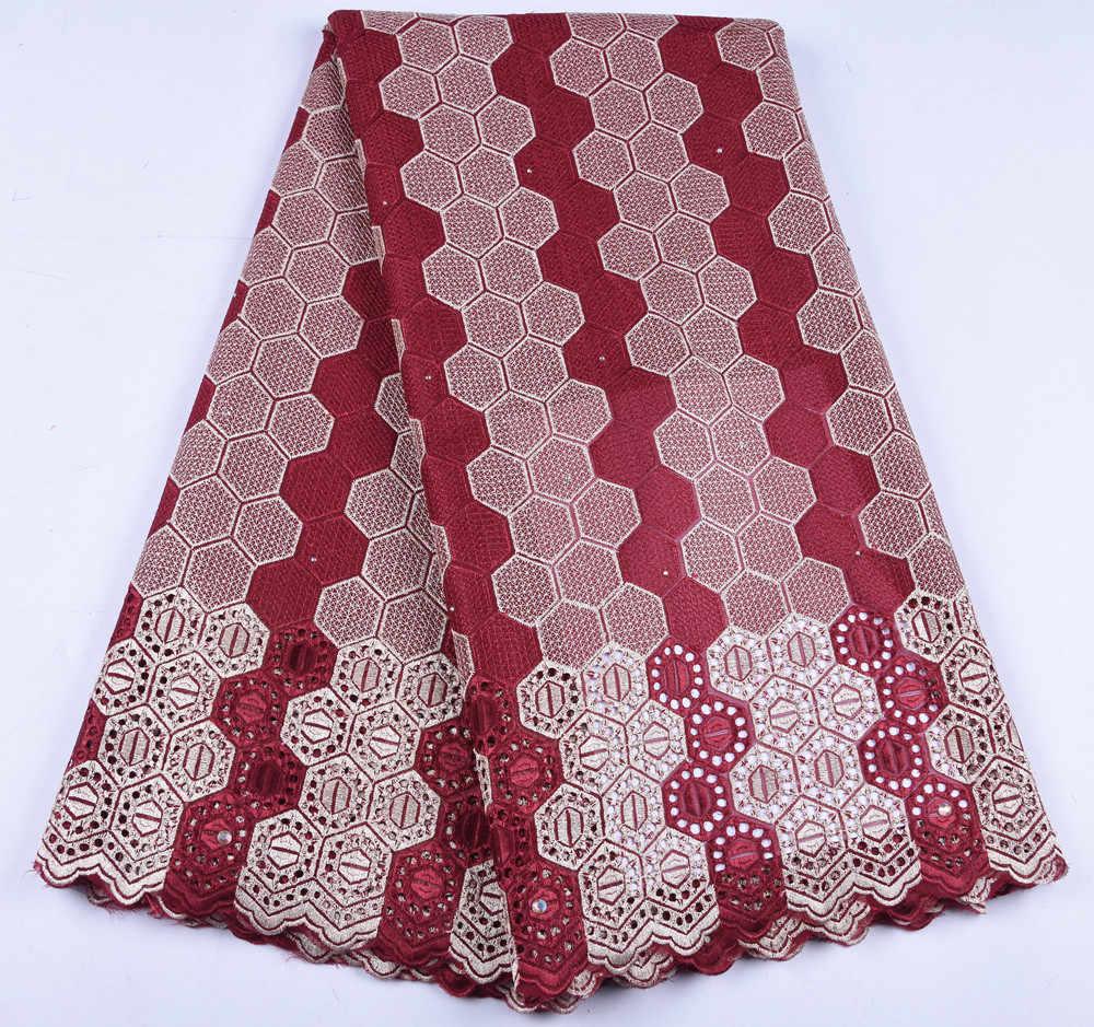 Африканское сухое кружево ткань швейцарская вуаль с камнями швейцарское хлопчатобумажное кружево высокого качества 2019 мужские кружевные ткани для свадьбы A1646