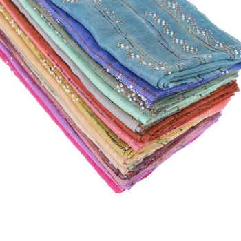 women fashion beads glitter scarves bandhnu cotton diamond pearls scarf muslim hijab wraps headband shawls/scarf 10pcs/lot - DISCOUNT ITEM  7% OFF All Category