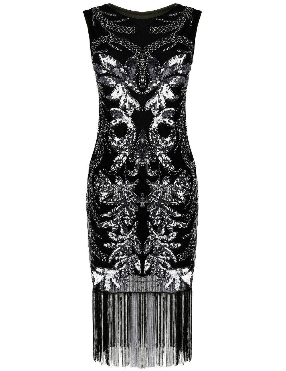 PrettyGuide frauen 1920 s Gatsby Art Deco Pailletten Perlen Fransen ...