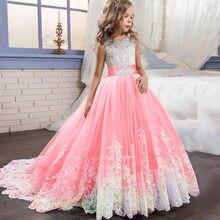 d9e1f6153 Los niños de las muchachas de flor vestido de boda para niña vestidos de  fiesta de