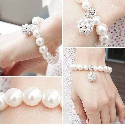 New Arrival Hot Sale New Fashion Jewelry Pearl Bracelet With Pearl Ball Pendant B8