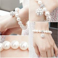 New Arrival Hot Sale New Fashion Jewelry Pearl Bracelet With Pearl Ball Pendant B8(China)