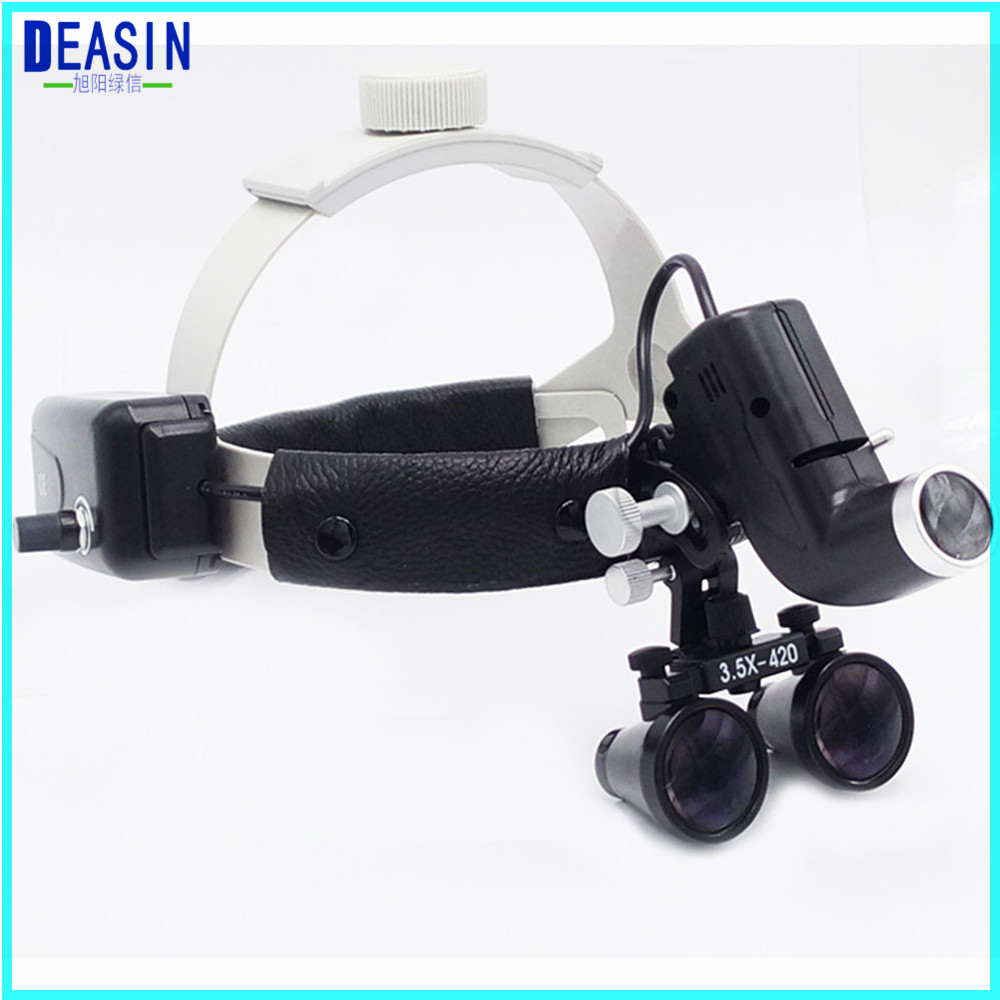High quality Dental Surgical Binocular 3.5 X 420mm Medical Magnifier All in Ones operation lamp surgical LED Headlight black hot sale 2 5x medical magnifier all in ones operation lamp surgical headlight and dental loupes