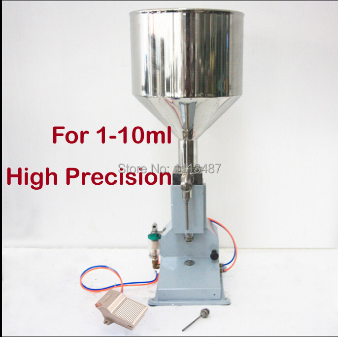 High Quality Pneumatic Paste & Liquid Filling machine Filler 1-10ml 100 1000ml pneumatic volumetric softdrin liquid filling machine pneumatic liquid filler for oil water juice honey soap