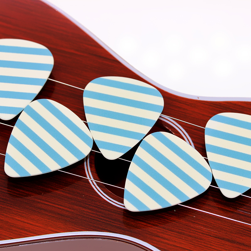 SOACH 50pcs Bass Guitar pick Plucked Instrument Accessories Guitar / Acoustic guitar picks / ukulele Parts blue stripes