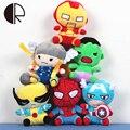 20 CM Algodão PP Brinquedos The Avengers Super Hero Spiderman Toy Figuras de Ação Brinquedos de Pelúcia Crianças Boneca de Pelúcia Kawaii Crianças presente