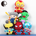 20CM PP Cotton Brinquedos The Avengers Super Hero Stuffed Toys Children Kawaii Plush Doll Spiderman Action Figures Toy Kids Gift