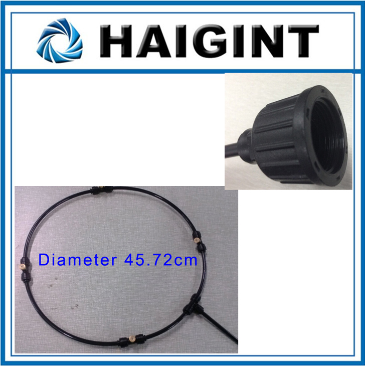 0661 Freeshipping HAIGINT Watering Irrigation Sprayers18 Black Evaporative Cooling System Garden Spray Ring