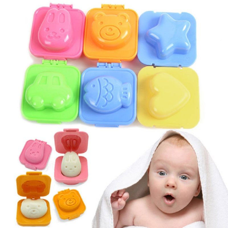 1 Piece Boiled Egg Sushi Rice Mold Mould For Kids Sandwich Cutter Moon Cake Maker Decoration