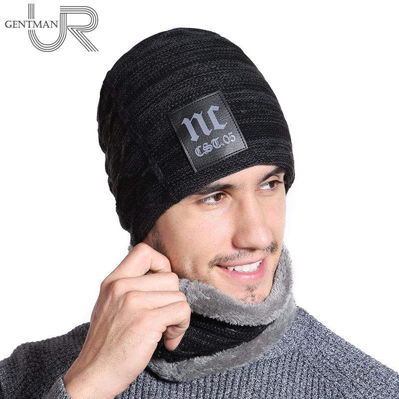 2018 neue Winter Hüte Hals Wärmer Hut NC Label Skullies Mützen Hut Winter Mützen Für Männer Frauen Hinzufügen Pelz Futter warme Gestrickte Hut