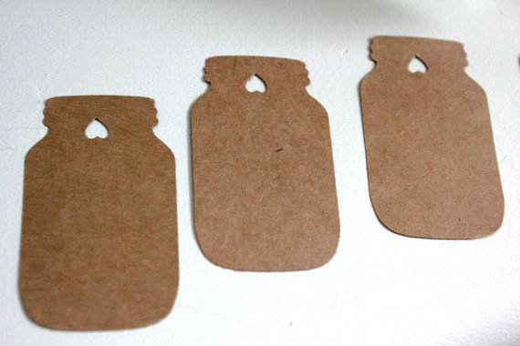 Mason Jar Favor Gift Tags Rustic Wedding Wishing Tree Tag Baby