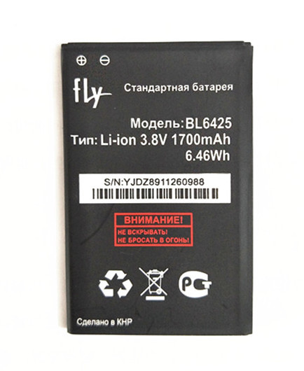 B-TAIHENG 3.8V 1700mAh BL6425 BL-6425 Li-ion Battery for fly fs454 fs 454 Smart phone Rechargeable Replacement battery image