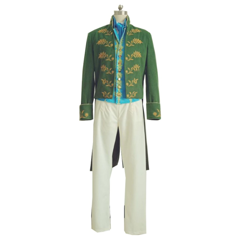 2019 film cendrillon Prince charmant vert Costume Richard Court fête danse Cosplay-ensemble complet