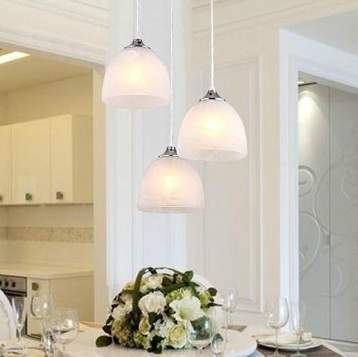lamp glass lamps lighting aisle corridor Free shipping modern minimalist three restaurant kitchen light bar chandelier bedroom