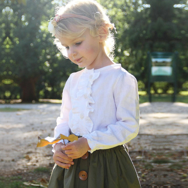New 2017 autumn  2-7 Years Kids Suit Baby Girls Clothing Sets T shirt + Skirt Two Piece Set Children Clothes new