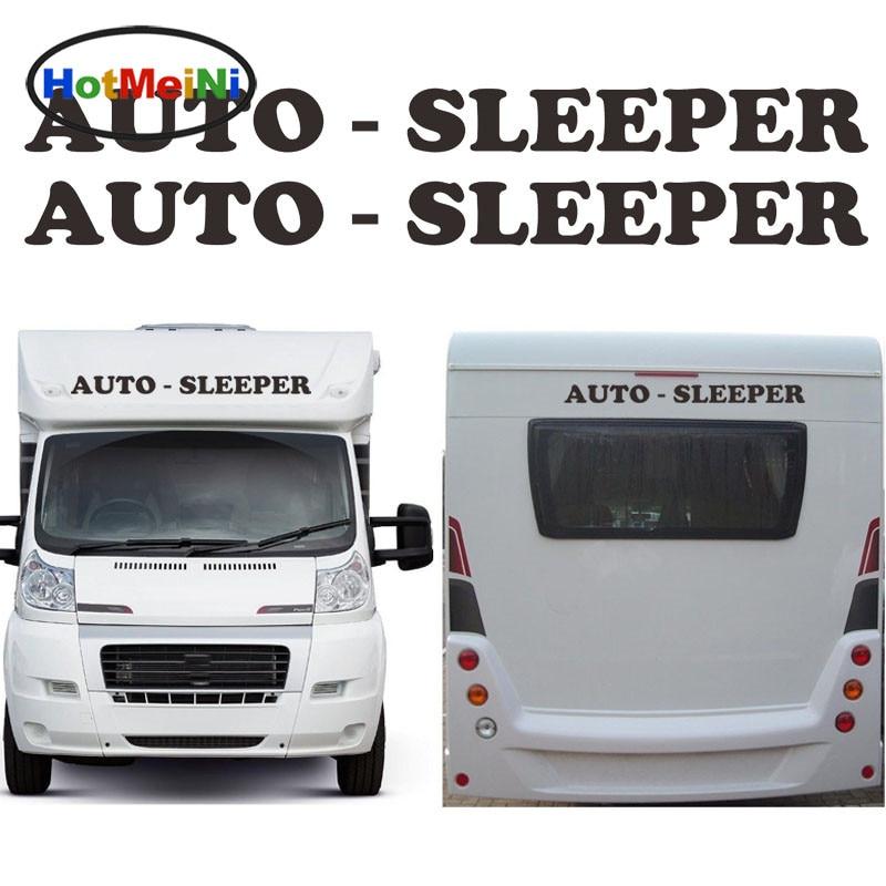 HotMeiNi 2x Auto Sleeper Graceful Lettering Word Art Car Sticker Motorhome Caravan Travel Trailer Campervan Decals Leisure Life