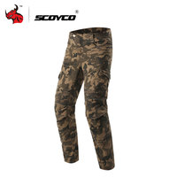 SCOYCO Motorcycle Pants Motorcycle Camouflage Jeans Motorcycle Trousers Off Road Racing Pants Motorbike Jeans With CE Kneepad