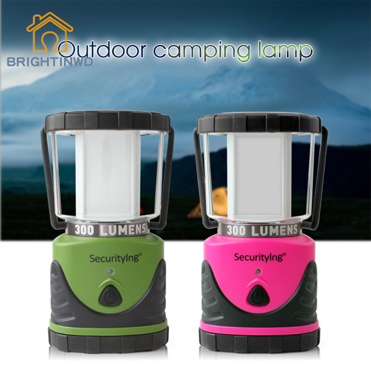 BRIGHTINWD Outdoor LED Camping Light Ultra Bright Waterproof Hanging Tent Lamp for Hiking Fishing Emergencies Portable Lantern