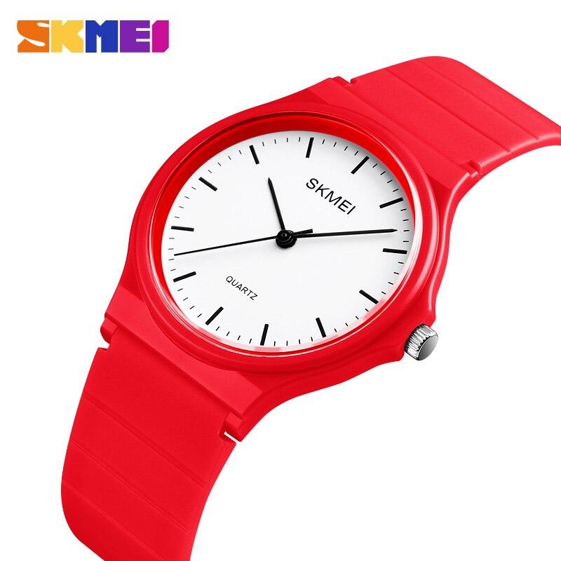 SKMEI 1419 Fashion Montre Femme Men Woman's Quartz Wrist Watches 30m Waterproof Ladies Watch Pu Watchband Luxury Man Wristwatch
