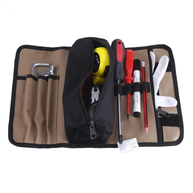 36x25cm Hardware Tools Bag Waterproof Canvas Electrician Tool Storage Multifunction Utility Electrical Package