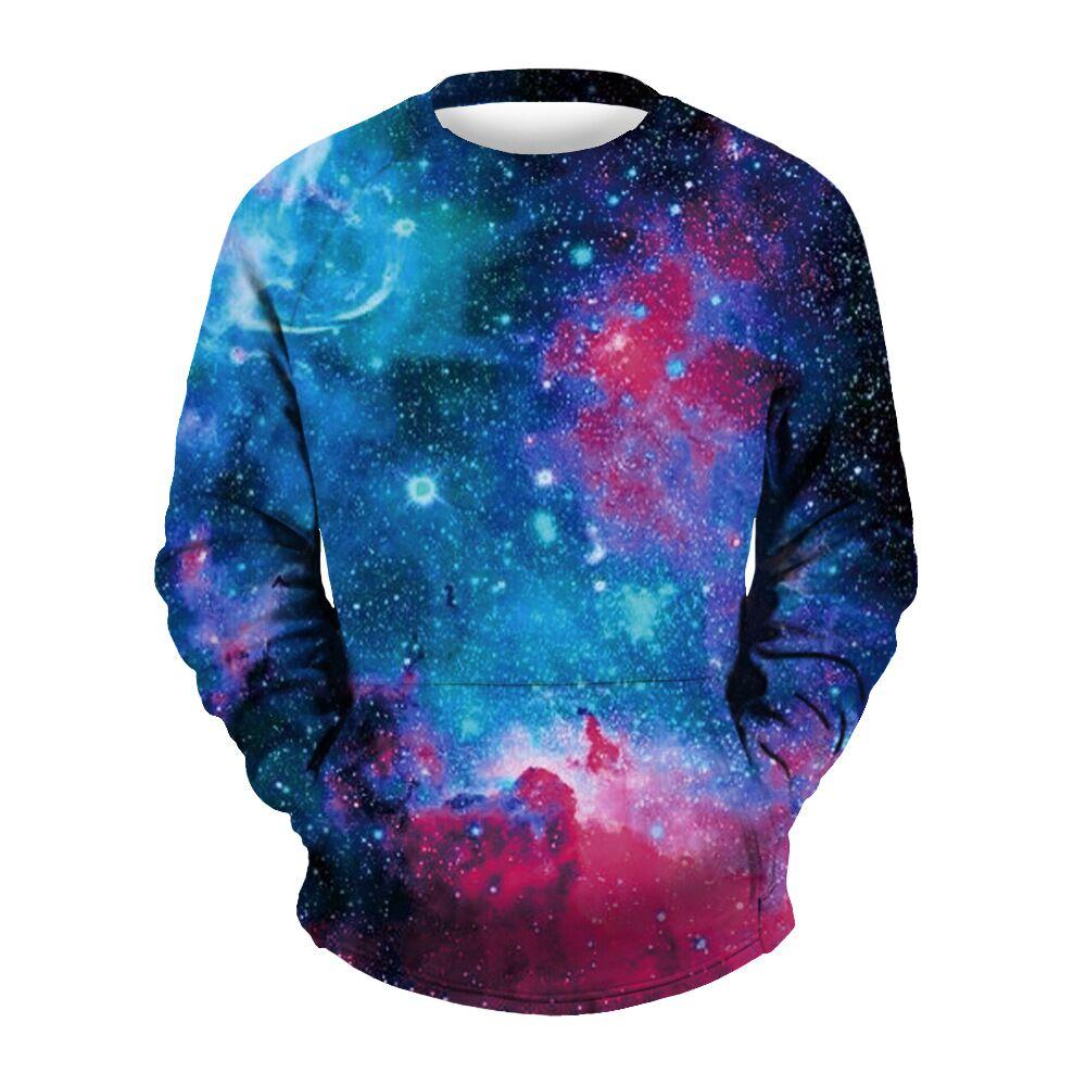CFYH 2018 Space Galaxy 3d Sweatshirts Mens Hoodies With Print Stars Nebula Autumn Winter Loose Hoody Tops Plus Size S-3XL