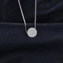0.38ct Round Cubic Zirconia Pendant Pure 925 Sterling Silver Party Jewelry Fashion Pendant Not Include a Chain