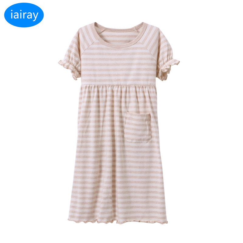 3c4d7a2cfd2e iairay kids loose long striped dress girls sleepwear children ...