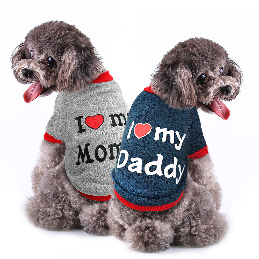 Dog Clothes Autumn Winter Pet Puppy Clothing For Small Dogs Cats Chihuahua Pug Yorkshire Pets French