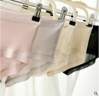 100% Natural Silk Seamless Panties for women 2016 summer refreshing underwear female soft briefs