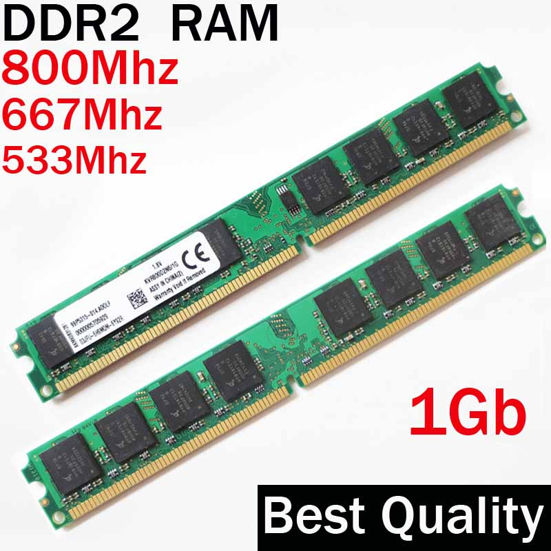 2Gb RAM DDR2 1Gb 800 667 533 ddr DIMM / 1G DDR2 800Mhz 667Mhz 533Mhz / dual channel / memoria ram ddr 2 memory RAM PC2 6400 5300 gtfs hot 2 x aluminum heatsink shim spreader for ddr ram memory