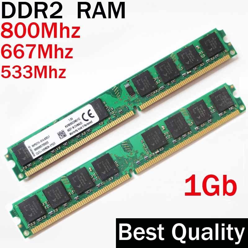 Desktop RAM DDR2 1 ГБ 800 667 533 / 1 г DDR2 800Mhz 667Mhz 533Mhz / dual channel / memoria ram ddr 2 memory RAM PC2 - 6400 5300